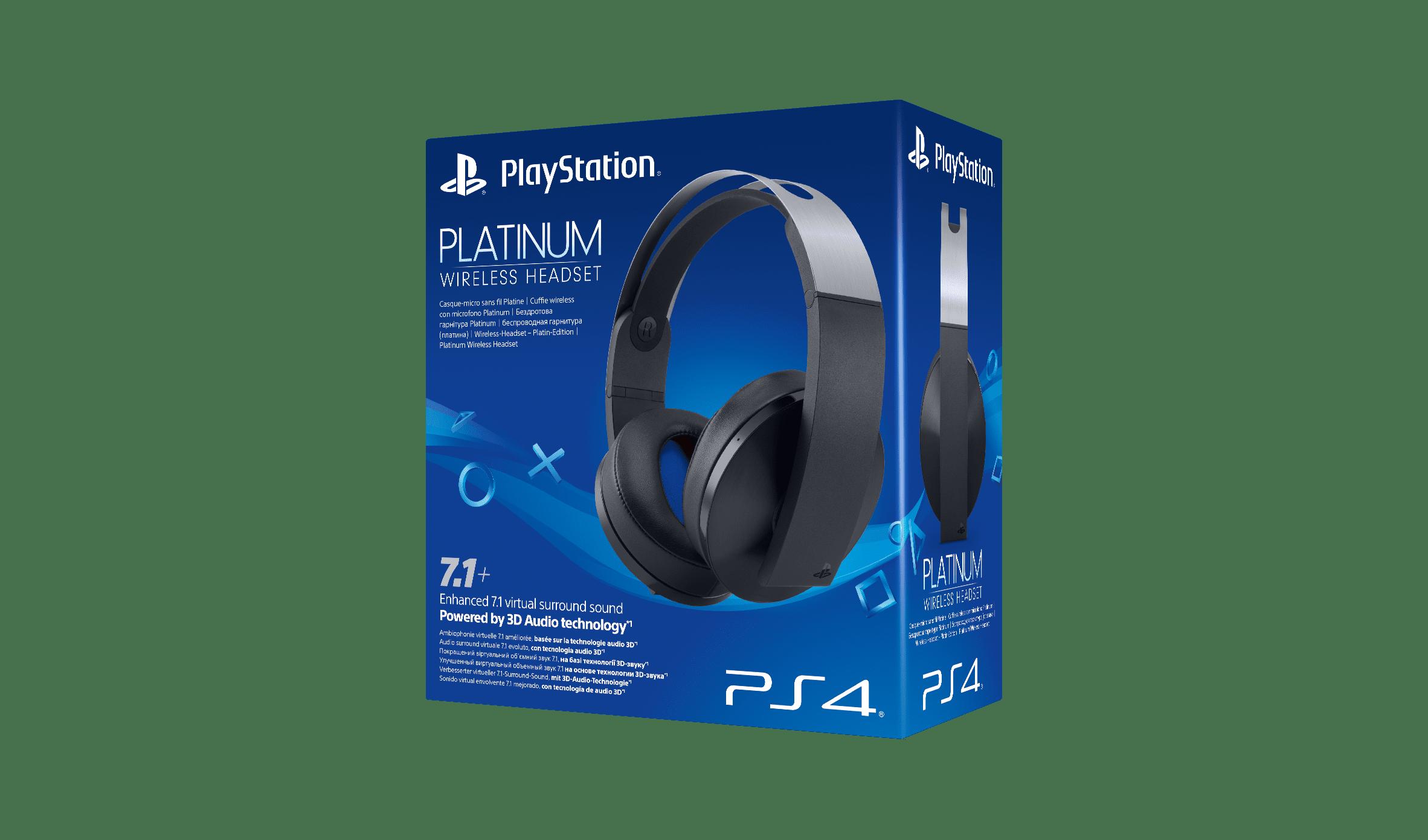 наушники беспроводные Sony Platinum Wireless Headset Ps4 купить