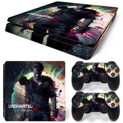 Скин на PlayStation 4 Slim — Uncharted 4 Путь Вора